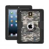 Trident U.S. Army Military Kraken AMS Series Gray Digital Camo Hard Cover on Silicone Skin Case w/ Built-In Screen Protector for Apple iPad 2/3/4 - KN-APIPDNUBKK06