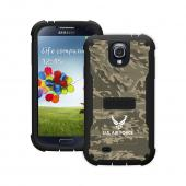 Trident U.S. Air Force Military Cyclops Series Green Camo Thermo Poly Elastomer (Super TOUGH) Hard Case w/ Built-In Screen Protector for Samsung Galaxy S4 - CY-SSGXS4-BKK02