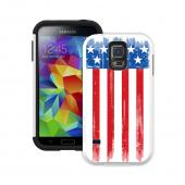 Trident Patriot USA Flag Aegis Design Series Hard Cover Over Silicone Skin Case w/ Screen Protector for Samsung Galaxy S5 - AG-SSGXS5-WT011