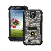 Trident U.S. Army Galaxy S4 Case | [Gray Digital Camo] Cyclops U.S. Army Series Rugged Fused Polycarbonate & Thermo Poly Elastomer (Super TOUGH!!) Hybrid Case w/ Built-in Screen Protector for Samsung Galaxy S4 | U.S. Army Licensed!