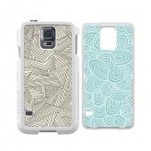 Trident White Apollo Series Hard Case Shell w/ 2 Interchangeable Plates (Zig Zagg and Seamless Waves) & Screen Protector for Samsung Galaxy S5 - AP-SSGXS5-WT014