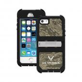 Trident U.S. Air Force Military Kraken AMS Green Camo Series Hard Cover on Silicone Skin Case w/ Built-In Screen Protector & Holster for Apple iPhone 5/5S - KN-APIP5S-BKK02