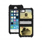Trident U.S. Army Military Kraken AMS Series Hard Cover on Silicone Skin Case w/ Built-In Screen Protector & Holster for Apple iPhone 5/5S - KN-APIP5S-BKK05