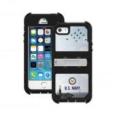 Trident U.S. Navy Military Kraken AMS Series Hard Cover on Silicone Skin Case w/ Built-In Screen Protector & Holster for Apple iPhone 5/5S - KN-APIP5S-BKK07