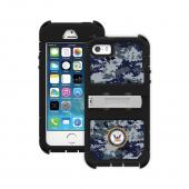 Trident U.S. Navy Military Kraken AMS Series Blue Digital Camo Hard Cover on Silicone Skin Case w/ Built-In Screen Protector & Holster for Apple iPhone 5/5S - KN-APIP5S-BKK08