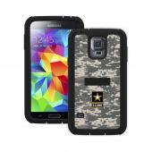 Trident U.S. Army Military Cyclops Series Gray Digital Camo Thermo Poly Elastomer (Super TOUGH) Hard Case w/ Built-In Screen Protector for Samsung Galaxy S5 - CY-SSGXS5-BKK06