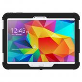 Trident White/ Black Samsung Galaxy Tab 4 10.1 Aegis Series Hard Cover Over Silicone Skin Case w/ Screen Protector {AG-SSGXT4-WT000} - Great Alternative to Otterbox!