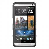 Seidio Black Active Combo Rubberized Hard Cover Over Silicone w/ Kickstand & Holster for HTC One