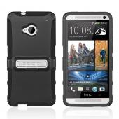 Seidio Black Active Rubberized Hard Cover Over Silicone w/ Kickstand for HTC One
