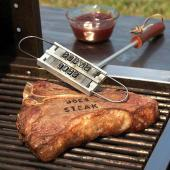 Barbuzzo BBQ Branding Iron w/ Interchangeable Letters - Customize Your BBQ!