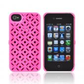 OEM Freshfiber Apple iPhone 4/4S Textured Nylon Hard Case - Pink Secret Eyes