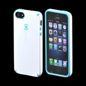 OEM Speck CandyShell Apple iPhone 5/5S Hard Case  SPK-A0478 - White/ Turquoise