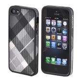 OEM Speck FabShell Apple iPhone 5/5S Hard Shell & Fabric Case  SPK-A0723 - MegaPlaid Black/ Gray