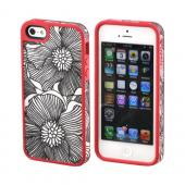 OEM Speck FabShell Apple iPhone 5 Hard Shell & Fabric Case, SPK-A0764 - FreshBloom Coral Pink/ Black