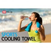 2-Pack N-Rit Ice Mate Cooling Sport Towel [Orange] Advanced Cooling Towel Designed for All Sports Players, Golf Towel, Gym Towel, Yoga Towel and More