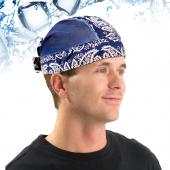 N-Rit Blue Polar Ice Skull Cap w/ Crystal Polymer Cooling Technology - Great for Under Helmets!