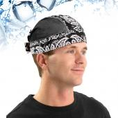N-Rit Black Polar Ice Skull Cap w/ Crystal Polymer Cooling Technology - Great for Under Helmets!