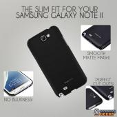 Rearth Ringke Slim Black Rubberized Hard Case for Samsung Galaxy Note 2