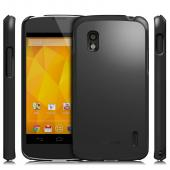 Rearth Ringke Slim Black Rubberized Hard Case for LG Nexus 4