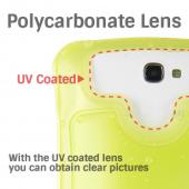 DiCAPac Clear/ Frost White Samsung Galaxy Note 1/2/3 Waterproof Case - WP-C2