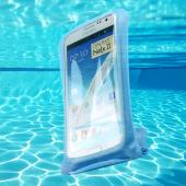 DiCAPac Light Blue White Samsung Galaxy Note 1/2/3 Waterproof Case