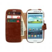 OEM Zenus Samsung Galaxy S3 Masstige Lettering Leather Diary Case w/ ID Slots - Brown