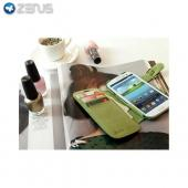 OEM Zenus Samsung Galaxy S3 Masstige Ostrich Leather Diary Case w/ ID Slots - Green