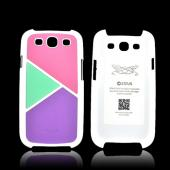 Zenus Samsung Galaxy S3 Skinny Leather on Hard Case - Pastel Pink/ Green/ Purple