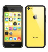 Rearth Ringke Fusion Bumper Premium Hybrid Case for iPhone 5C - Retail Packaging - Black