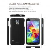 Pearl White Samsung Galaxy S5 SLIM Series Full Top and Buttom Coverage Hard Cover Case w/ Free Premium Screen Protector