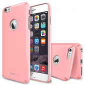 "iPhone 6 Plus Case - Ringke SLIM iPhone 6 Plus Case 5.5 "" [Free HD Film/All Around Protection][Logo-Cut Out PINK] Full Top and Bottom Coverage Premium Dual Coated Hard Case for Apple iPhone 6 Plus 5.5 Inch - Eco Package"