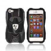 Premium Fusion Series Apple iPhone 5/5S Cobra GT Hard Cover Over Silicone Case w/ Screen Protector - Black