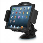 Heavy Duty Backseat Windshield Car Mount Holder Cradle for Tablets/Phone/GPS [Black] Perfect for long trips, vacations, and children [Compatible with iPad Air, Mini, Samsung Galaxy Tab, Kindle, Amazon Fire and related sized tablets]