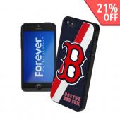 MLB Licensed Boston Red Sox Hard Back Cover w/ Silicone Logo for Apple iPhone 5/5S