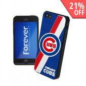 MLB Licensed Chicago Cubs Hard Back Cover w/ Silicone Logo for Apple iPhone 5/5S