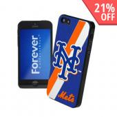 MLB Licensed New York Mets Hard Back Cover w/ Silicone Logo for Apple iPhone 5/5S