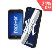 MLB Licensed New York Yankees Hard Back Cover w/ Silicone Logo for Apple iPhone 5/5S