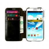 OEM Zenus Samsung Galaxy Note 2 Masstige Lettering Leather Diary Case w/ ID Slots - Black