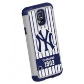 Forever Collectibles MLB New York Yankees Dual Hybrid TPU Samsung Galaxy S5 Rugged Case