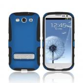 OEM Seidio Samsung Galaxy S3 Active Hard Cover Over Silicone w/ Metal Kickstand - Blue/ Black