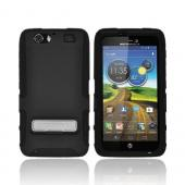 OEM Seidio Active Motorola Atrix HD Rubberized Hard Cover Over Silicone w/ Kickstand, CSK3MTAT3K-BK - Black