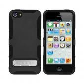 OEM Seidio Active Combo Apple iPhone 5/5S Rubberized Hard Cover Over Silicone w/ Kickstand & Holster - Black