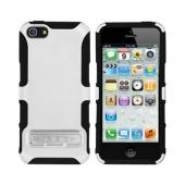 OEM Seidio Active Combo Apple iPhone 5/5S Rubberized Hard Cover Over Silicone w/ Kickstand & Holster - White/ Black
