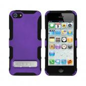OEM Seidio Active Combo Apple iPhone 5/5S Rubberized Hard Cover Over Silicone w/ Kickstand & Holster - Amethyst Purple/ Black