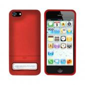 OEM Seidio Surface Combo Apple iPhone 5/5S Rubberized Hard Case w/ Kickstand & Holster - Garnet Red/ Black