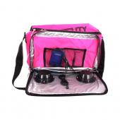 Original Fydelity Universal Le Boom Box Coolio Cooler Bag w/ Built-In Amplifier & Speakers (3.5mm), 91256 - Hot Neon Pink