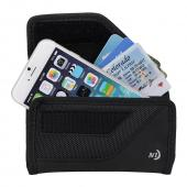 Nite Ize Horizontal Clip Cargo Nylon Holster Pouch Case [Black] w/ Velcro Closure for Large Devices