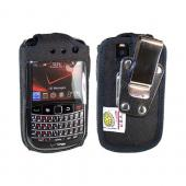 Original TurtleBack Premium Blackberry Bold 9650/ Tour 9630 Heavy Duty Pouch w/ Steel Swivel Belt Clip - Black