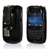 Black Turtleback Heavy Duty Premium Leather Case w/ Steel Swivel Belt Clip for Blackberry Bold 9900