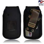 Black Turtleback Ballistic Nylon Pouch w/ Heavy Duty Steel Swivel Belt Clip for Kyocera Kona